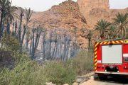 الوقاية المدنية تخمد حريق في واحة آيت منصور قرب مدينة تافراوت
