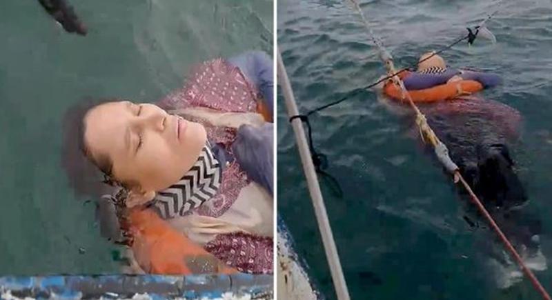العثور على امرأة حية وسط البحر بعد عامين من اختفائها