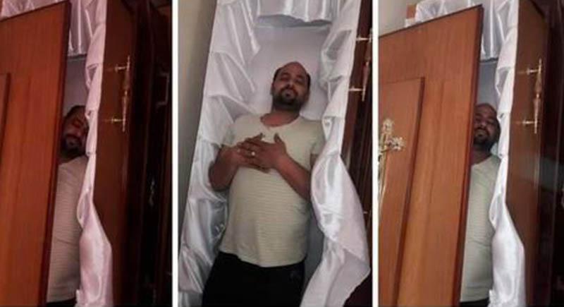 صدمة بعد وفاة مصري صوّر نفسه في 'تابوت' وطلب الموت