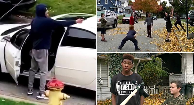 أمريكي يطلق النار على أطفال يلعبون كرة السلة (فيديو)