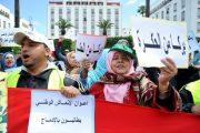 عمال الانعاش الوطني يحتجون لرفع الراتب والترسيم بالوظيفة العمومية