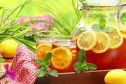 طريقة تحضير الشاي المثلج بنكهة الليمون والنعناع