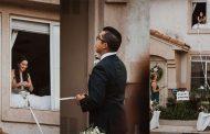 على طريقة روميو وجولييت.. حفل زفاف في العزل الصحي