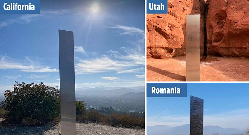 الهيكل المعدني الغامض يعاود الظهور في كاليفورنيا ورومانيا