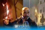 بالفيديو.. حريق شقة بالحي المحمدي.. الجيران :