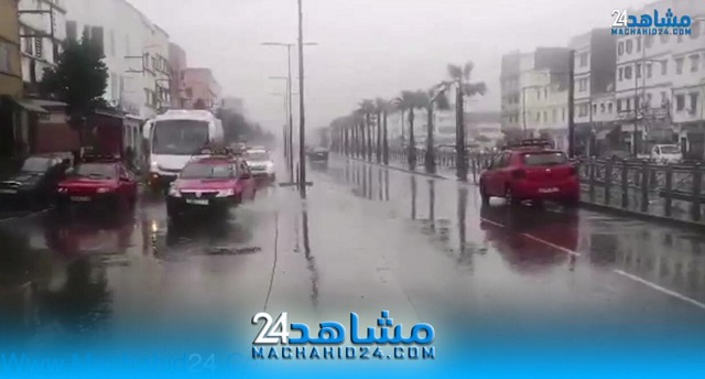 بالفيديو.. بسبب التساقطات المطرية..