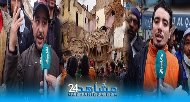 بالفيديو.. بعد انهيار منزل.. سكان الحي المحمدي يعيشون الرعب