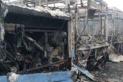 اندلاع حريق بمستودع حافلات النقل الحضري بالدارالبيضاء(صور)