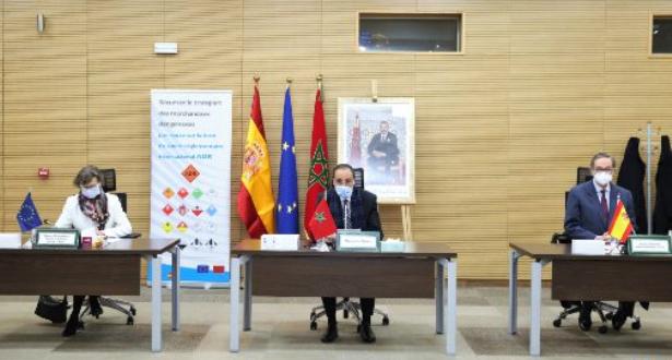 المغرب – إسبانيا: اختتام عقد توأمة لتأمين نقل البضائع الخطيرة