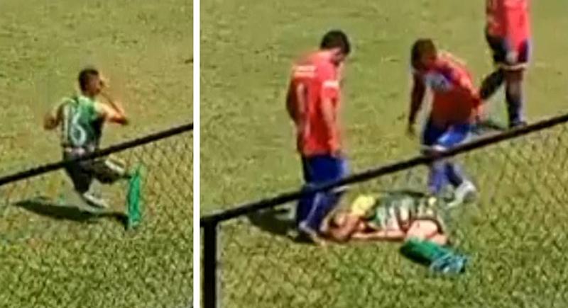 لاعب كرة قدم يقدم مشهدا تمثيليا فاشلا (فيديو)