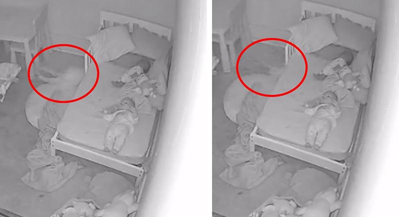 شبح يجذب طفلة من ساقيها وتصرخ في رعب بحثا عن والدتها (فيديو)
