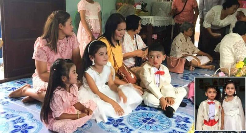 عمرهما 5 سنوات.. طفل يتزوج توأمه في تايلاند بسبب
