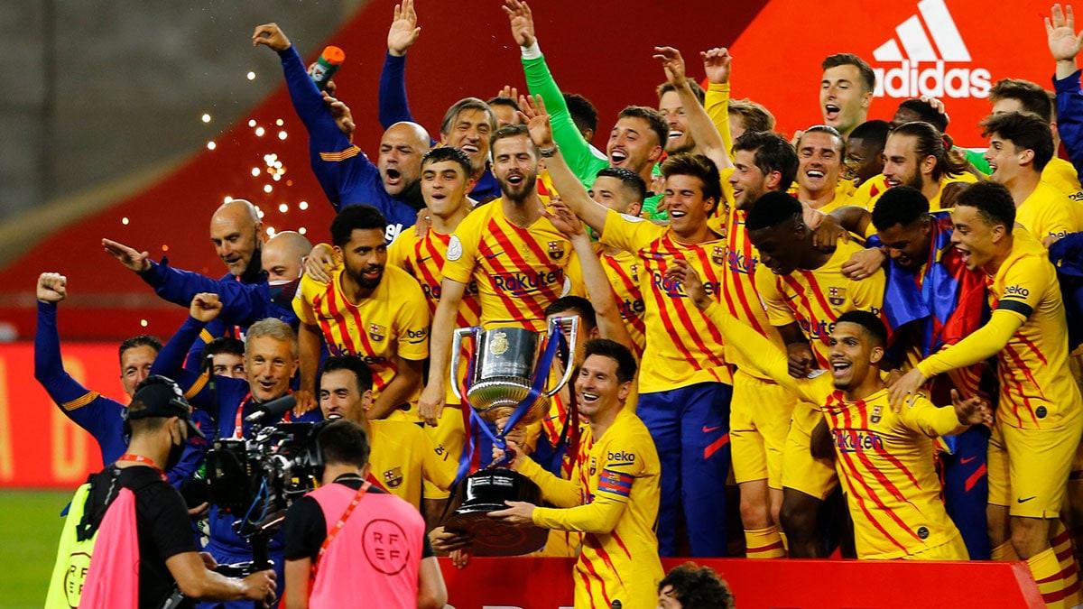 برشلونة يسحق بيلباو ويتوج بطلا لكأس ملك إسبانيا