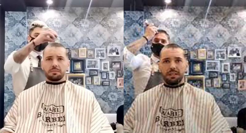 بالفيديو..حلاق يقوم بتصرف إنساني أثناء إزالة شعر مريض بالسرطان