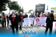 التضامن مع أساتذة التعاقد يخرج أطرا تعليمية للاحتجاج بالبيضاء (صور)