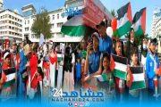 بساحة ماريشال بالبيضاء.. وقفة تضامنية مع الشعب الفلسطيني