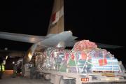 مساعدات عاجلة للفلسطينيين.. مغادرة طائرة عسكرية من القنيطرة في اتجاه القاهرة