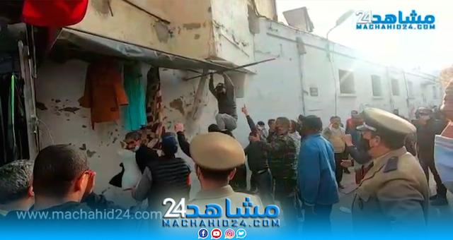 مع اقتراب العيد.. السلطات تشن حملة ضد احتلال الملك العمومي بدرب السلطان