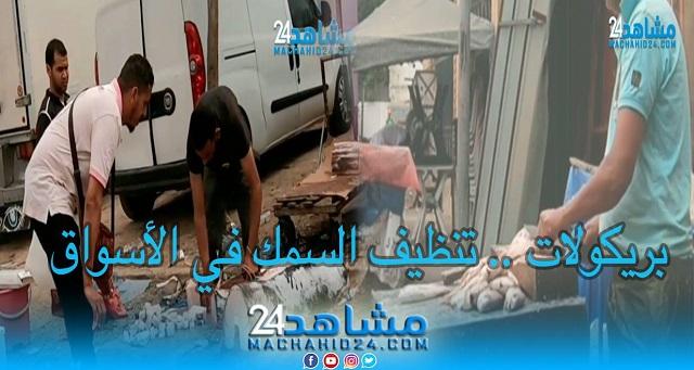 بريكولات (14).. تنظيف السمك في الأسواق