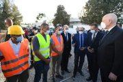 الرئيس التونسي يزور المستشفى الميداني المغربي ويشكر المملكة