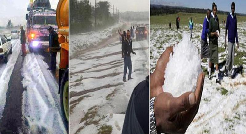 ظاهرة نادرة... الثلوج تكسوا المناطق الغربية من الكاميرون (فيديو)