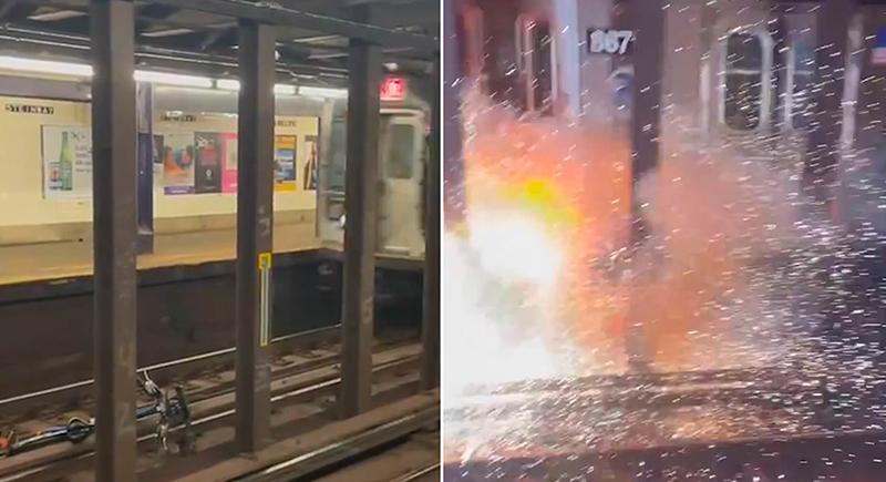 دراجة هوائية تتسبب بانفجار في مترو نيويورك (فيديو)